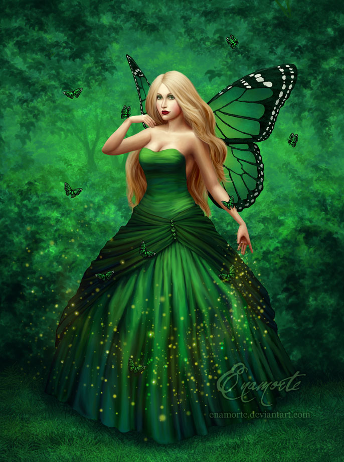 Emerald Wings by Enamorte