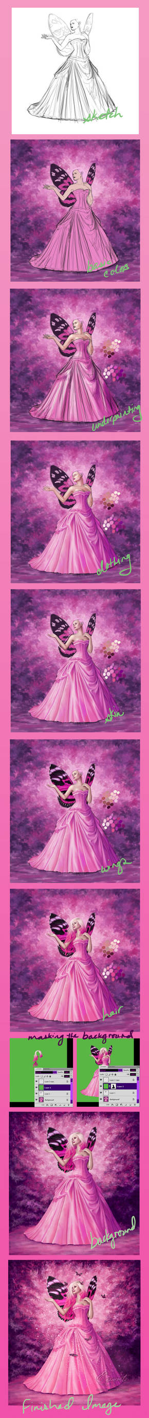Touch of Rose : Step by step