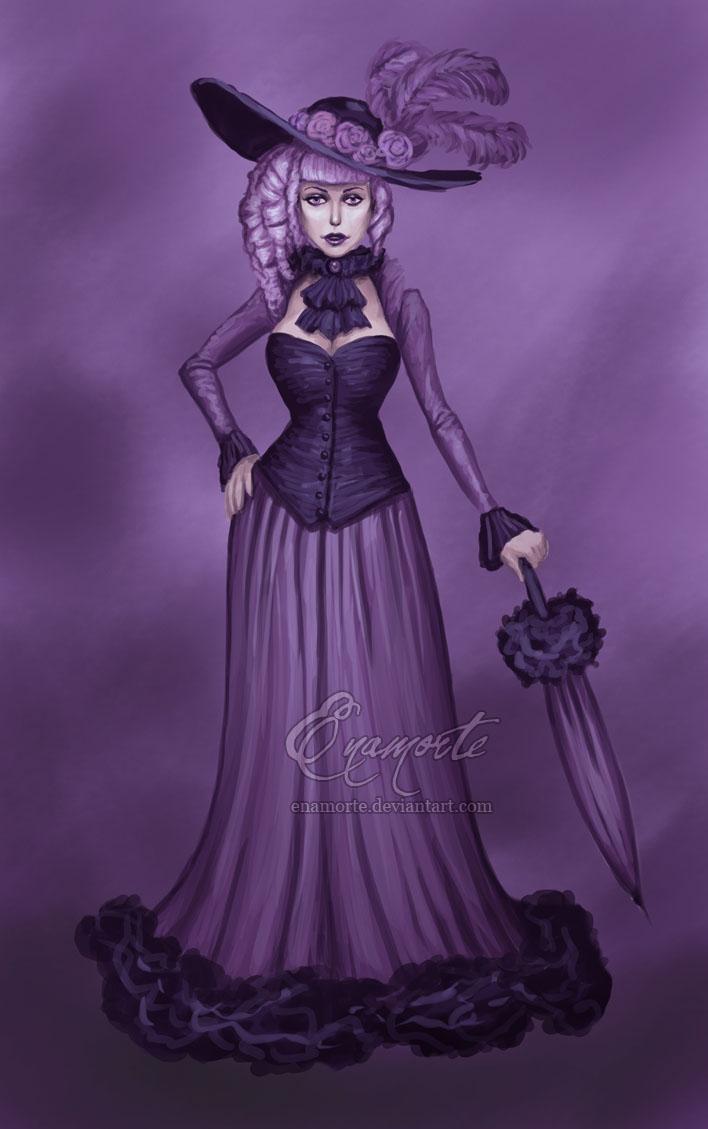 purple speedpaint by Enamorte