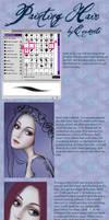 Hair painting tutorial by Enamorte
