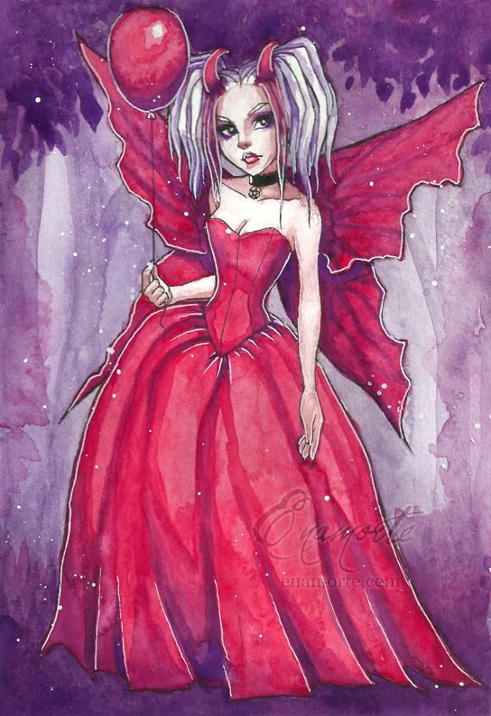 Little red balloon by Enamorte