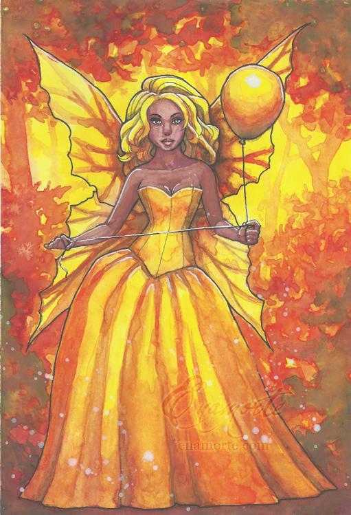 Yellow balloon by Enamorte