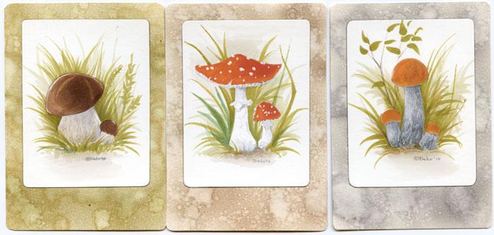 "ATC ""mushrooms"" by Neko-Art"