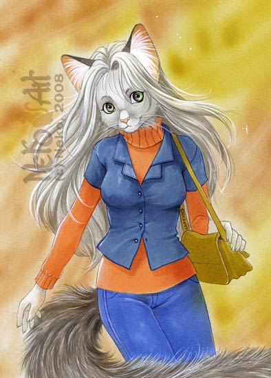 silver cat by Neko-Art