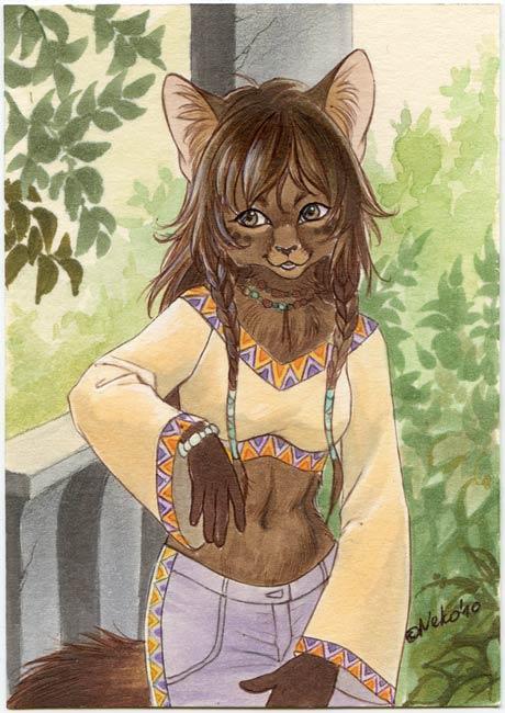 ACEO for Marta by Neko-Art
