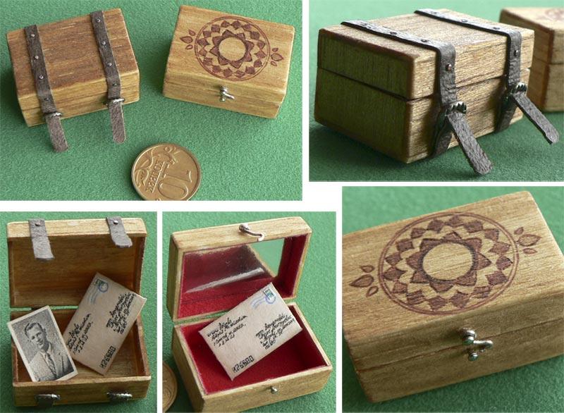 wooden boxes 1:6 miniature by Neko-Art