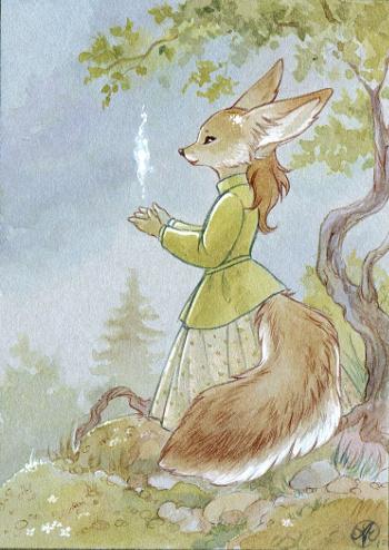 ACEO: Fennec Lady by Neko-Art