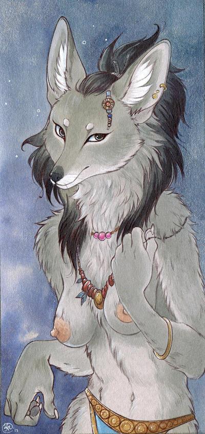Elder Wolf Card by Neko-Art