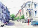 Urban corner sketch
