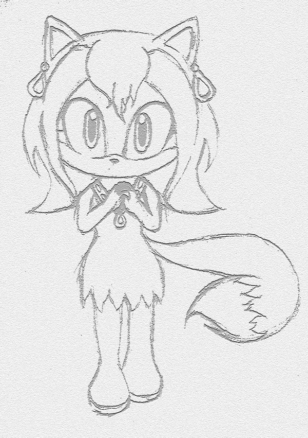 Request: Chibi Sora the Fox by Cute-n-Sketchy