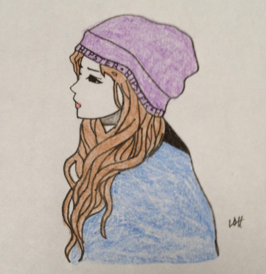 Girl in a Hat by Ployana