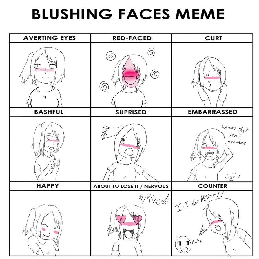 you make me blush meme - photo #17