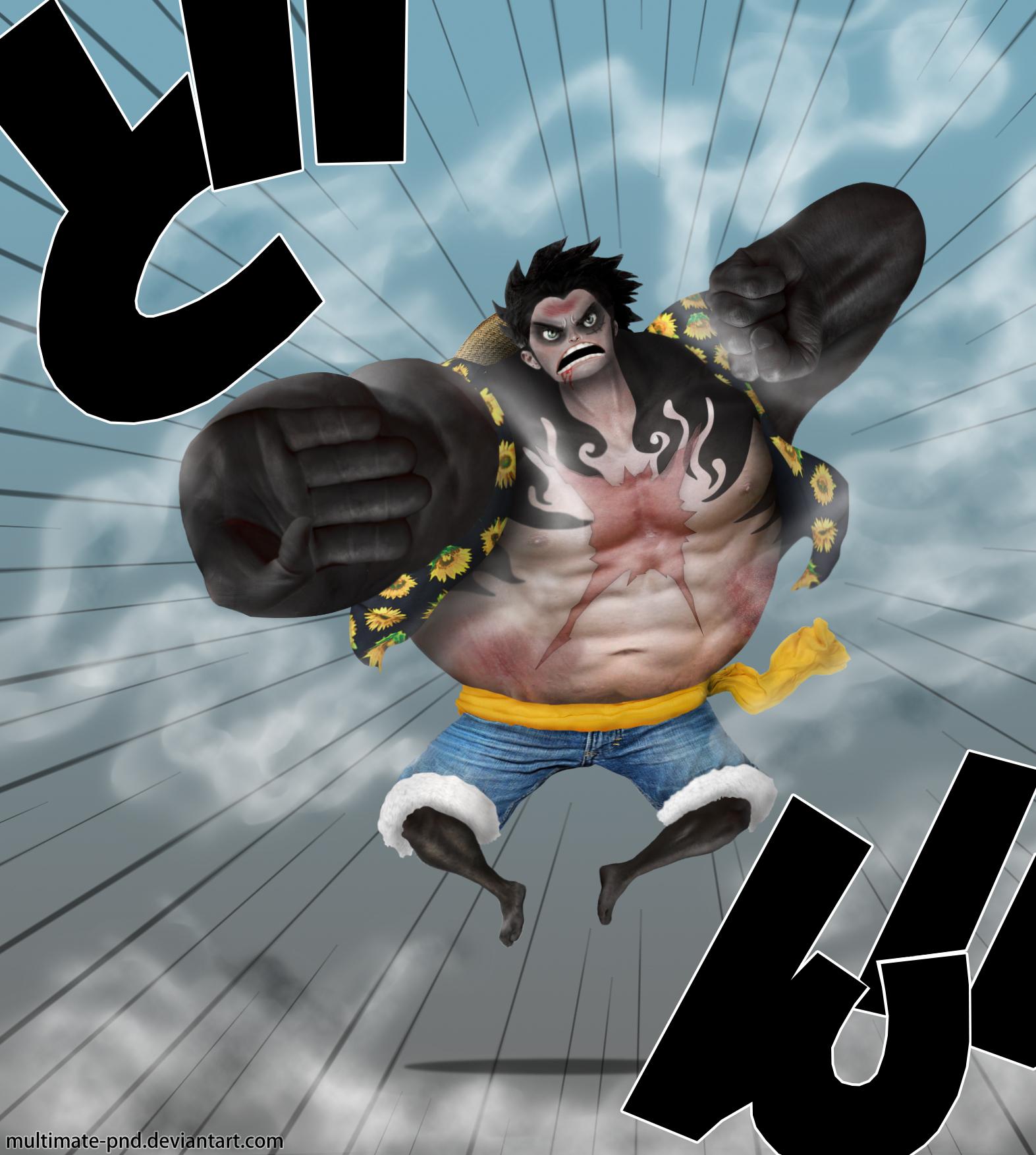 Luffy Gear 4th by mult... One Piece Wallpaper Luffy Gear Fourth
