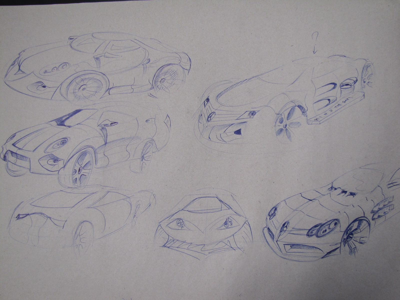 Some Crappy Car Sketches by