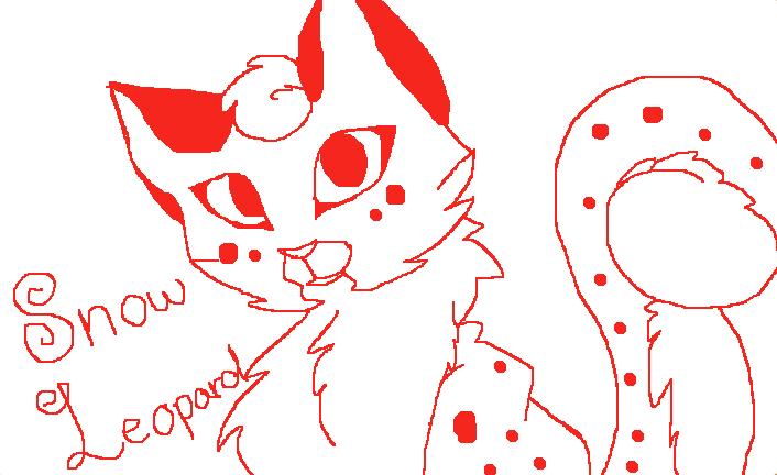 Cute Snow Leopard Drawing