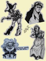 Black pen sketchdump 2 by Lillou-chan