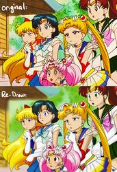 Sailor Moon Screen ReDraw by AlpharieArtist