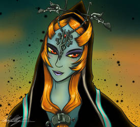 Midna True Form: Patron Gift by AlpharieArtist