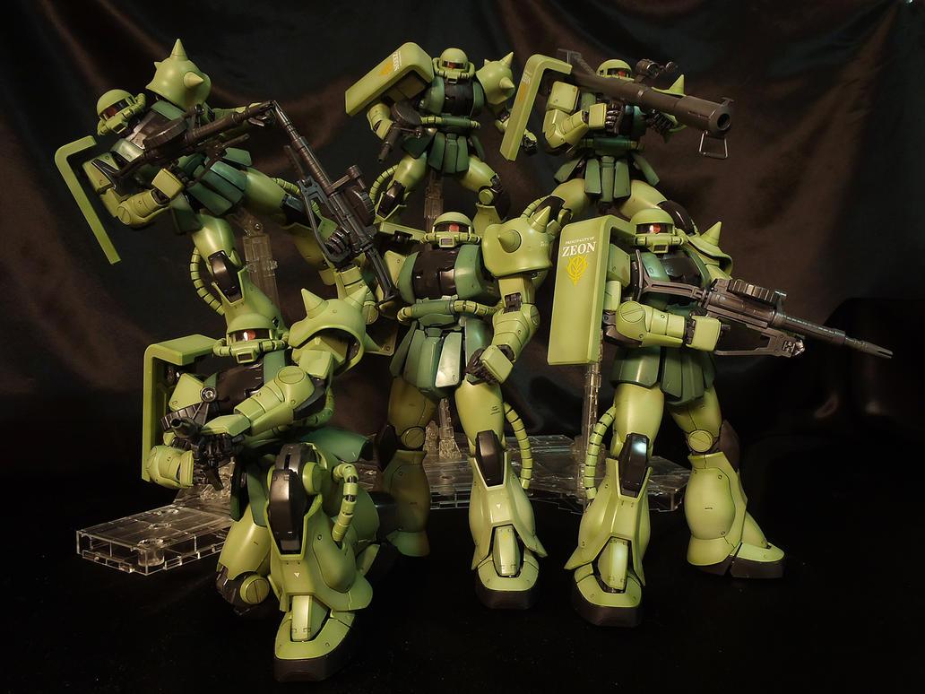 Zaku II Squad by