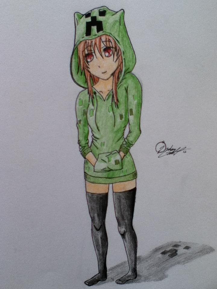 Anime creeper girl by jgillustrations - Creeper anime girl ...