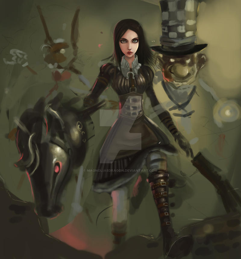 Alice Madness WIP by MagnoliasDragon