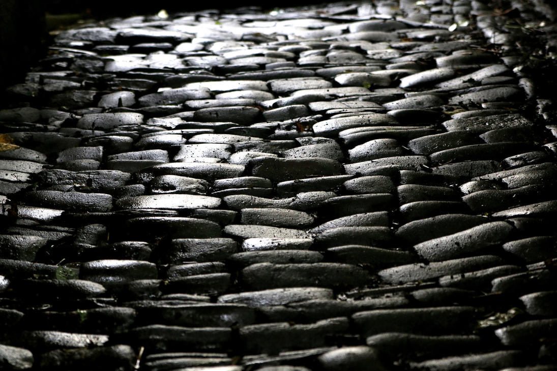 how to make a cobblestone path