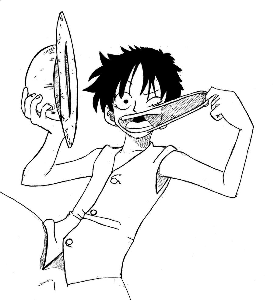 One Piece Luffy by Eseyy on DeviantArt