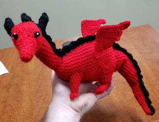 Crocheted 'Baby' the dragon (from KoS)