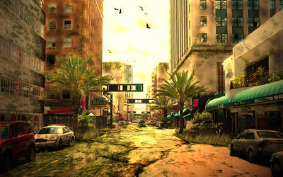 Post-apocalyptic city by torque2587