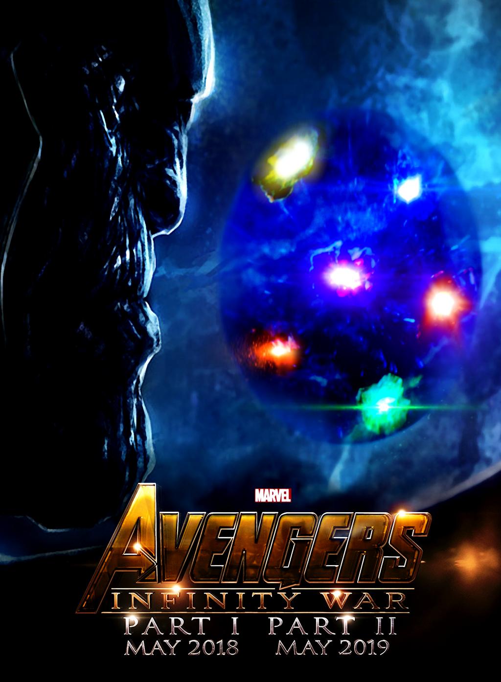 3 part poster design -  Avengers 3 Infinity War Part 1 Part 2 Poster By Urufubdxxx