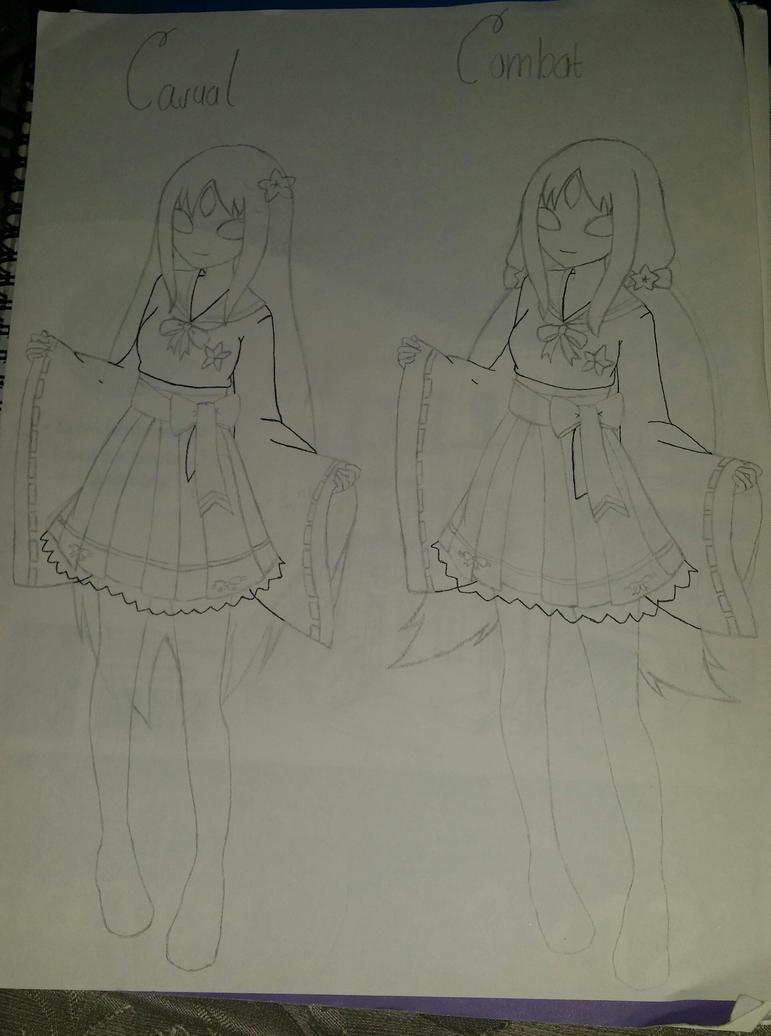 [Sketch] - Sakura - Hylotl design by Stocking679