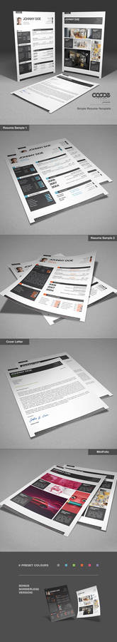 Simple Resume / CV Template and Mini Portfolio