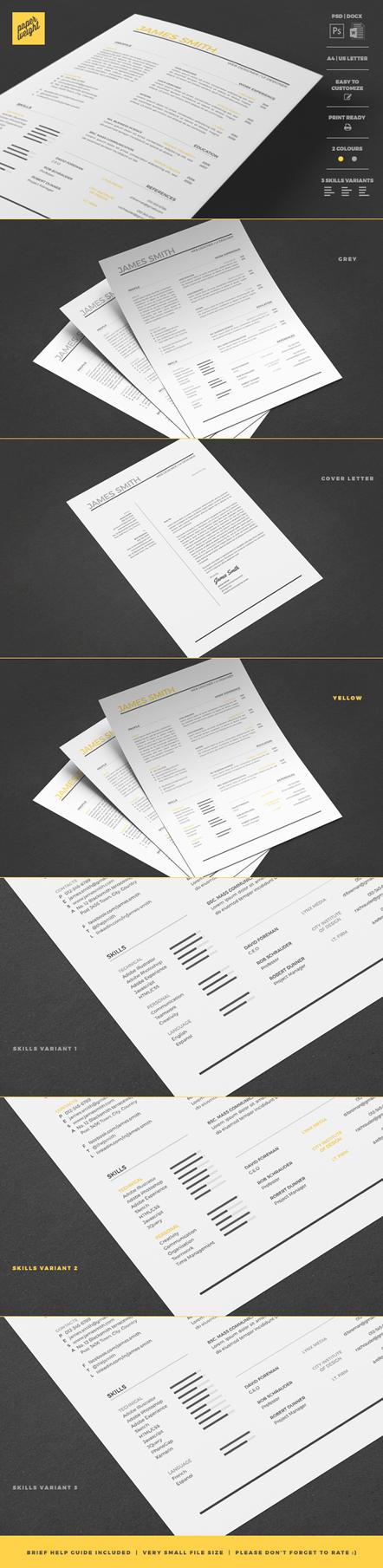 Resume CV Curriculum Vitae Template by CaJoE-Design