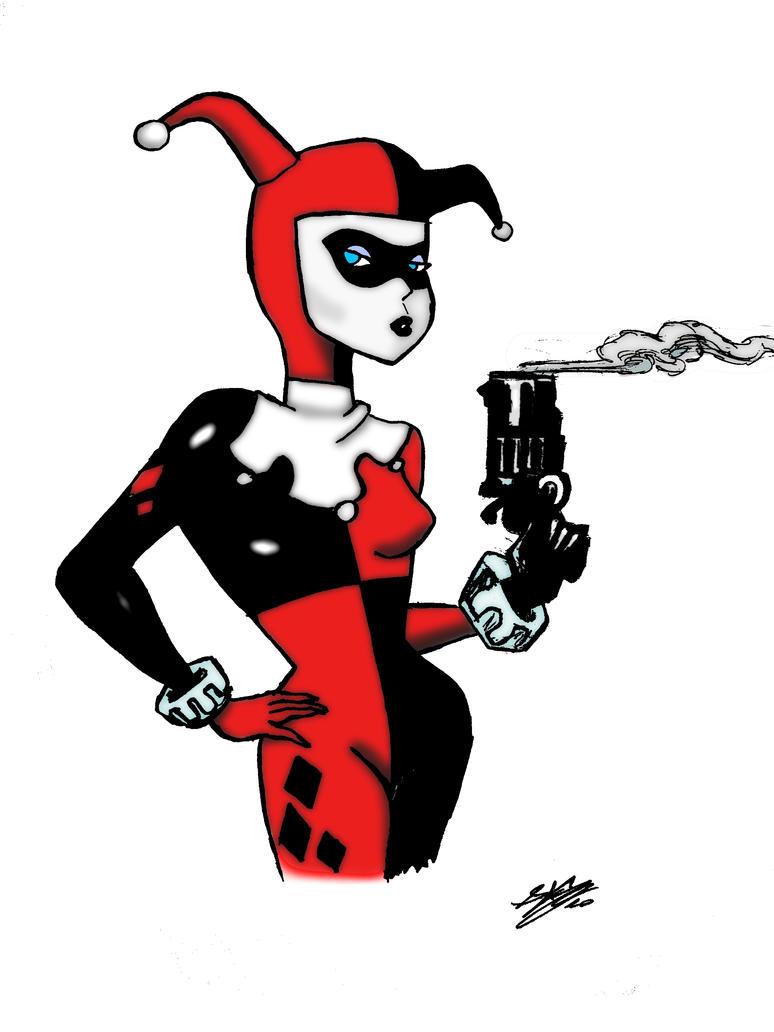 Line Art Harley Quinn : Harley quinn by deaero on deviantart