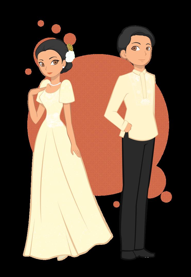 Baro T Saya And Barong Tagalog Animated Images