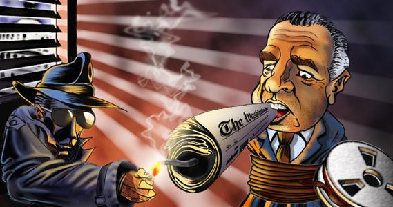 Nixon cartoon by davejas777