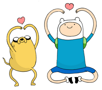 Jake the dog and Finn the human by pokercake
