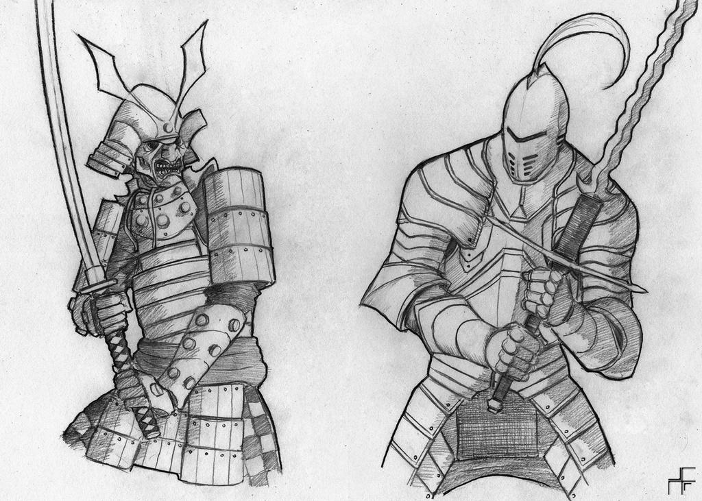 samurai and knights essay The greatest similarity between samurai and knights is that they both lived in societies that were built on feudalism samurai and knights were required to pledge fealty to their lord and were required to serve them in times of war knights and samurai were respected warrior classes in europe and.
