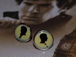 Sherlock and John earrings by mygeekymuse