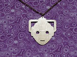 Cyberman necklace by mygeekymuse