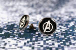 Avengers earrings by mygeekymuse