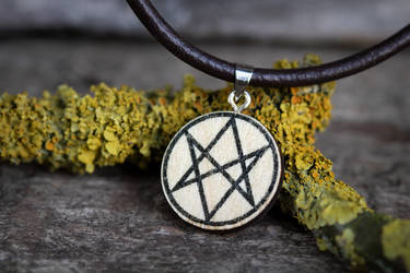 Men of letters necklace (Supernatural) by mygeekymuse