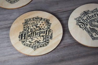 Hufflepuff coaster by mygeekymuse