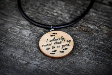 I solemnly swear I am up to no good necklace by mygeekymuse