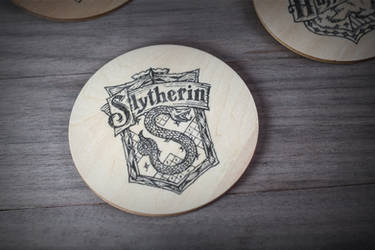 Slytherin coaster by mygeekymuse