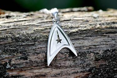 Star Trek badge necklace
