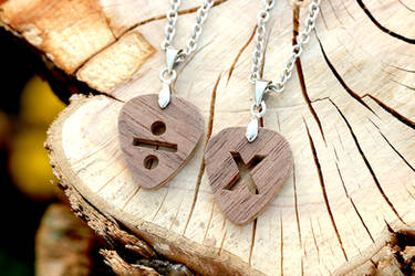 Divide pick necklace and Multiply pick necklace