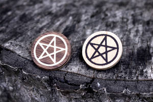 Pentagram Brooches