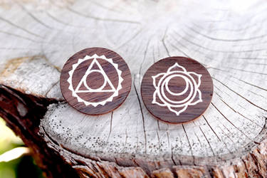 Third Eye Symbol Brooches