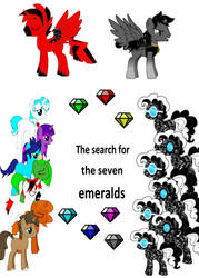 The Search For The Seven Emeralds Cover by darkrithehedgehog8